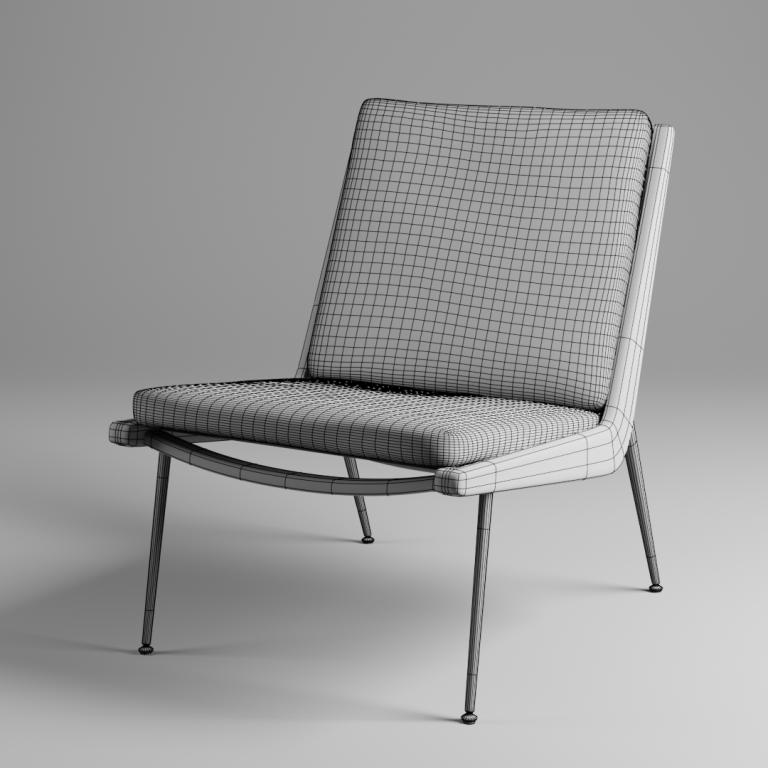 Render del modelo 3D de una silla